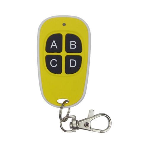 Universal 433MHz 4 Keys Wireless Cloning Garage Door Remote Control Duplicator