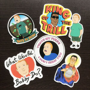 6Pcs-Vinyl-King-Of-The-Hill-Stickers-Graffiti-Bobby-and-Hank-KOTH-DIY-Car-Decals