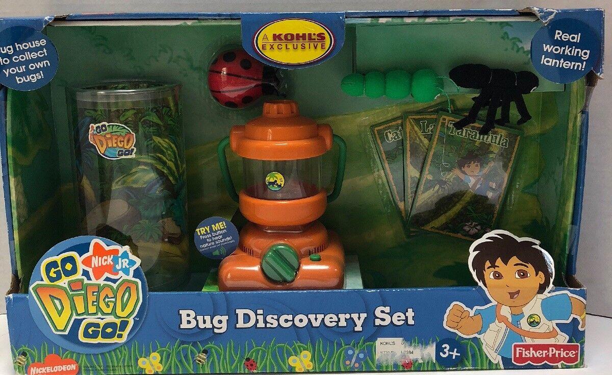 NEW NIB Go Diego Go Bug Discovery Set with Working Lantern Toy