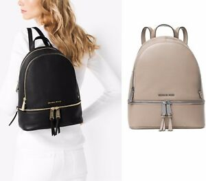 4aa2bec312df Image is loading MICHAEL-Michael-Kors-Medium-Rhea-Zip-Backpack-Leather-