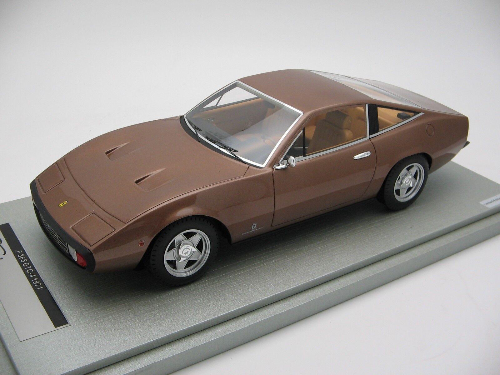 1 18 scale Tecnomodellolo Ferrari 365 GTC-4 Mettuttiic Bronze 1971 - TM18-92D