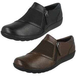 Mujer-Clarks-MEDORA-Gale-Zapatos-Casuales-Cuero-Ancho-D