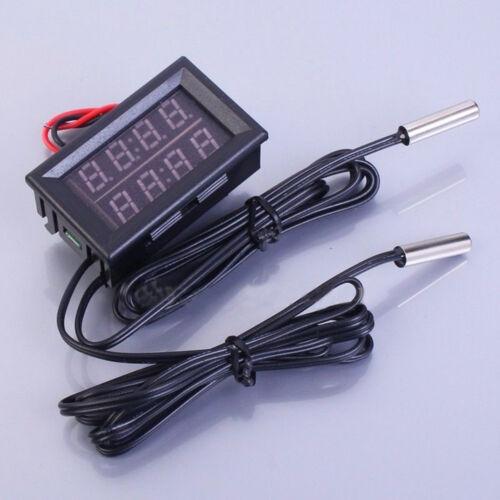 Waterproof Dual Digital LED Anzeige Temperatur Sensor DC 4-28V BAF