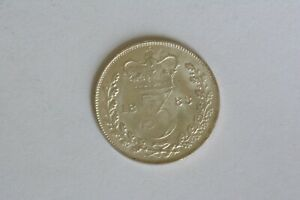 1883 SILVER THREE PENCE COIN, VICTORIA uncirculated