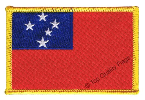 Samoa Flag EMBROIDERED PATCH 8x6cm Badge
