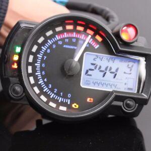 15000rpm motorcycle universal lcd digital speedometer tachometer odometer gauge ebay. Black Bedroom Furniture Sets. Home Design Ideas