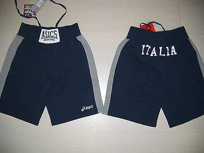 10033 TG L ASICS ITALIA BOXE PUGILATO FPI PANTALONI PANTALONE ITALY PANTS