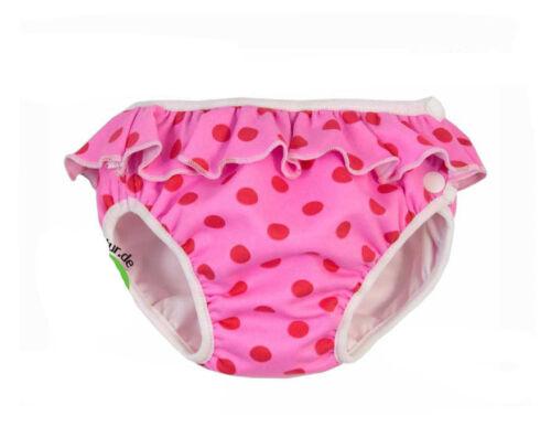 Imse Vimse Schwimmwindel Pink Punkte Rüschen  Badehose  Schwimmhose Baby Kind