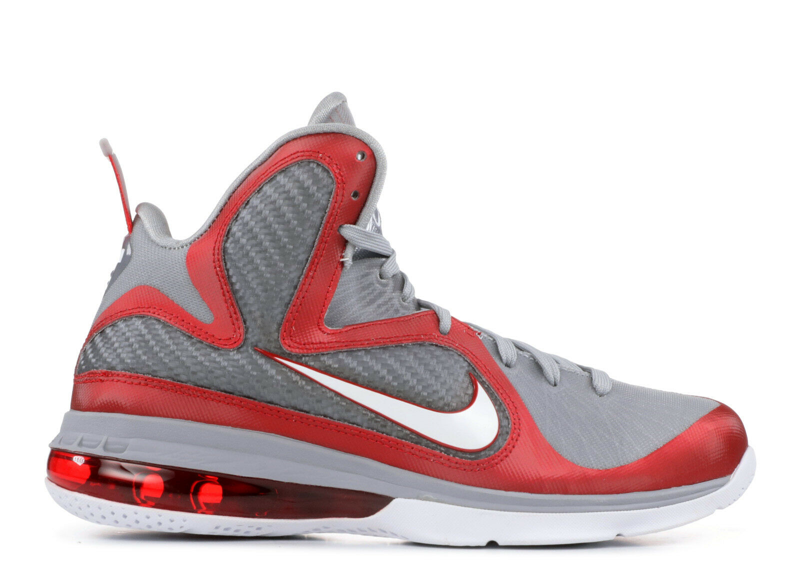 NIKE LEBRON 9 IX OHIO STATE BUCKEYES 11 GREY RED WHITE 469764-601 JAMES OSU