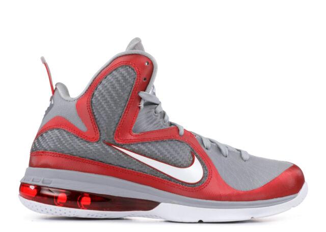 best website 7a375 ecb40 Nike Lebron 9 IX Ohio State Buckeyes 11 Grey Red White 469764-601 James OSU  for sale online   eBay