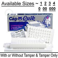 Cap M Quik Capsule Filling Machine W OR W/O Tamper ~ Size 000, 00, 0, 1, 2, 3, 4