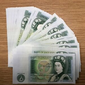 BU-1978-1983-Bank-of-England-una-sterlina-1-nota-frizzante-100-AUTENTICO