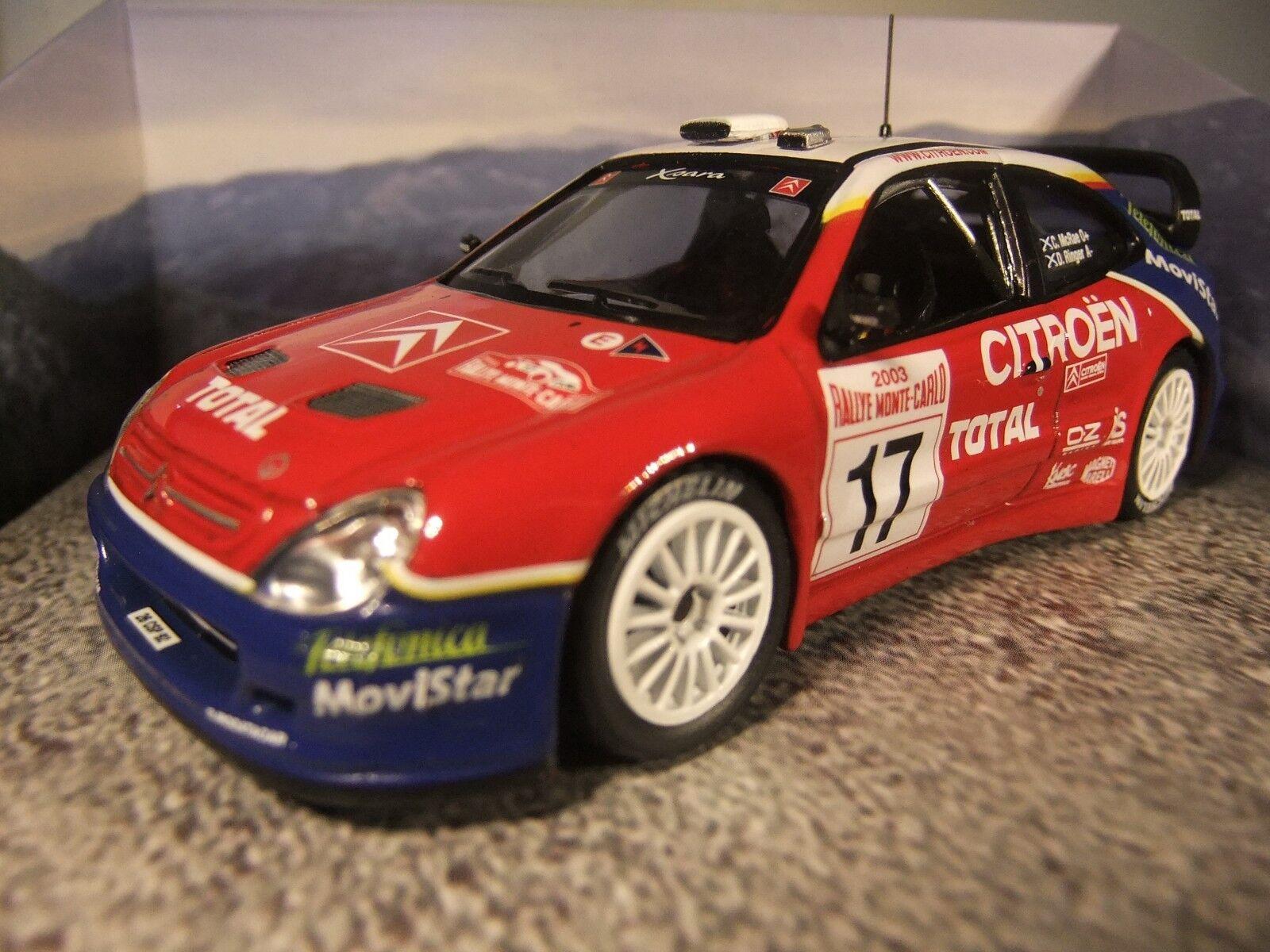 1 43 Corgi VA99901 Colin McRae Tribute Citroen Xsara Turbo WRC Monte Carlo 2003