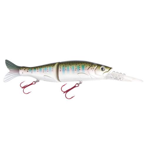 Jackson cucchiaino Profi Luccio Pesca Esche-Real Dive 100mm 13g Rainbow Trout