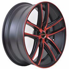 Set of 4 GWG Wheels 18 inch Crimson Red ZERO Rims fits 5x110 DODGE DART R/T 2013