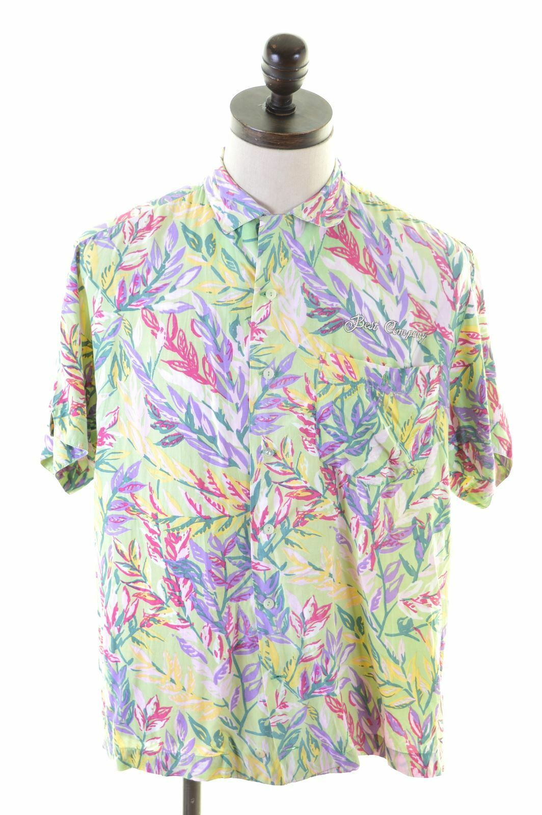 BEST COMPANY Mens Shirt Medium Multi Floral Loose Fit  IB19