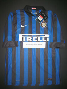on sale 5b719 9e9a8 Details about New 2011-2012 Nike Inter Milan Internazionale Jersey Shirt  Kit Maglia Calcio