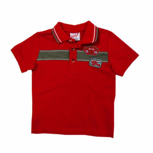 Whoopi T-Shirt Poloshirt kurzarm Baumwolle Rot Baby Jungen Gr.68,74,80,86