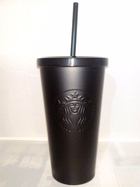 fd1c84a310e Starbucks Stainless Steel Cold Cup Matte Black 16 FL Oz RARE 2014