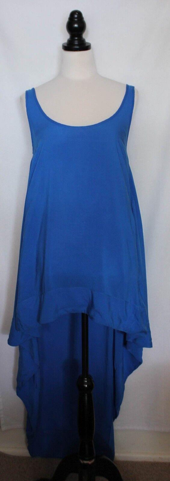 SASS & BIDE  Cobalt bluee Asymmetric Hemline Viscose Sleeveless Dress 8