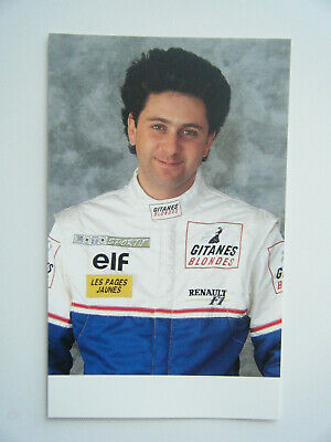 Angemessen Eric Bernard Ligier Gitanes Blondes Renault Js 39 Official Team Card 1993 F1 New