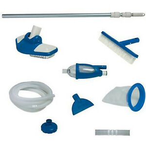 Details about Swimming Pool Cleaning Equipment Kit System Vacuum Skimmer  Brush Above Ground