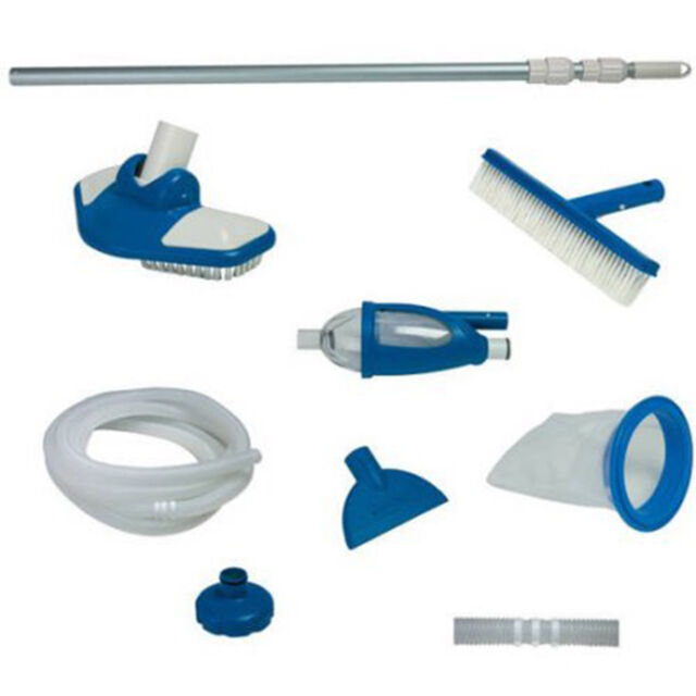 Pool Cleaning Kit Above Ground Swimming Maintenance Supplies Skimmer ...
