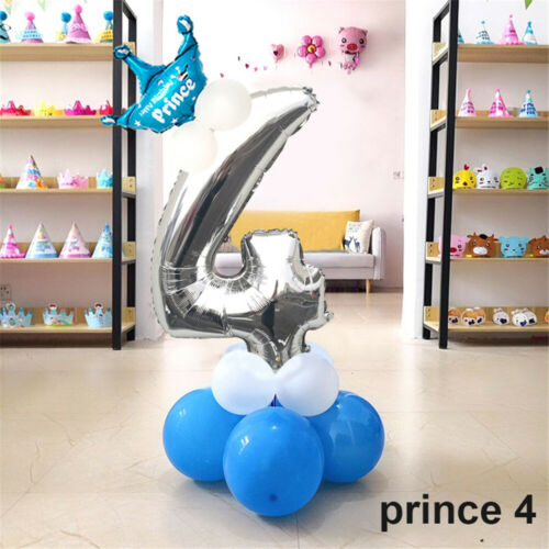 Birthday Decoration Pink/&Blue Digit Number Foil Balloon Helium Inflatable