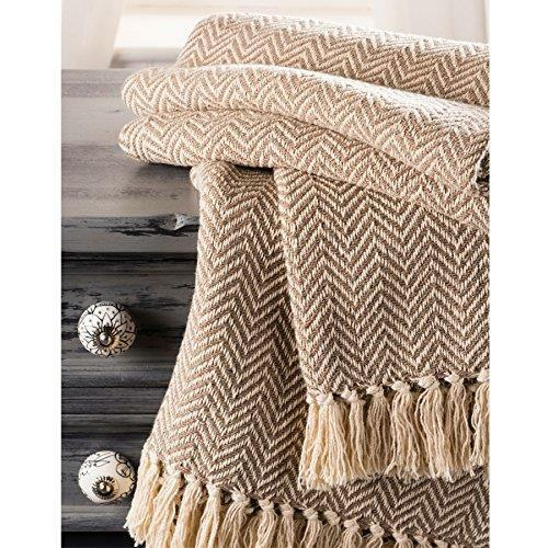 Fair Trade Soft Hand Woven Bedspread Settee Sofa Throw 100/% cotton 225 x 250cm