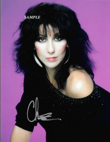 CHER REPRINT AUTOGRAPHED SIGNED PICTURE PHOTO COLLECTIBLE 8X10 RP SINGER