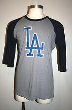 NEW Mens Wright & Ditson LOS ANGELES LA DODGERS Raglan Baseball Shirt Large L