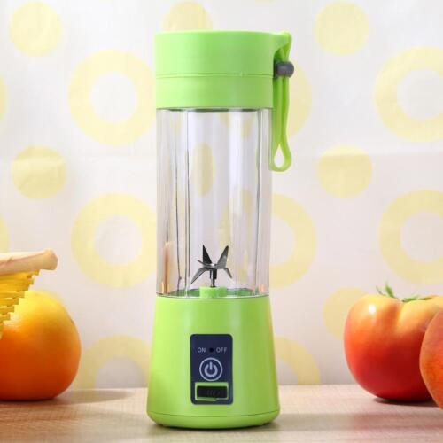 380ml USB Juicer Cup Handheld Fruit Smoothie Maker Blender Portable Recharge
