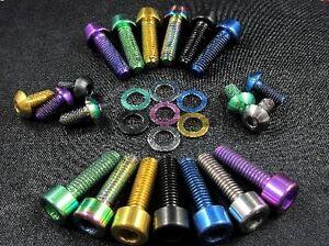 RACEPRO-GR5-TORNILLOS-DE-TITANIO-Todos-Colores-Tipos-Elige-Individual