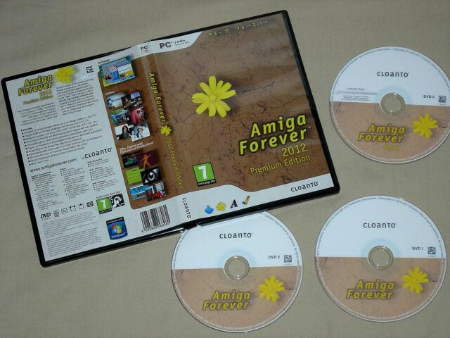 Cloanto Amiga Forever 2012 Premium Edition on 3 Dvd's - Emulation Commodore