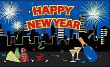 3'x5' HAPPY NEW YEAR'S DAY FLAG HOLIDAY CELEBRATION FIREWORKS PARTY FUN BEER 3X5