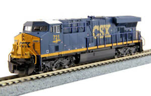 Kato-N-Scale-ES44AC-Locomotive-CSX-Transportation-721-DC-DCC-Ready-1768929