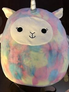 """Squishmallow Kellytoy Lucy-May The Rainbow Llamacorn 8/"""" Plush Toy Pillow Pet"""