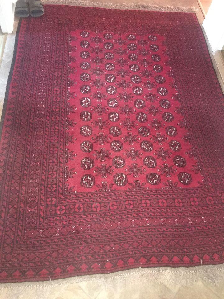 Gulvtæppe, ægte tæppe, Afghansk tæppe