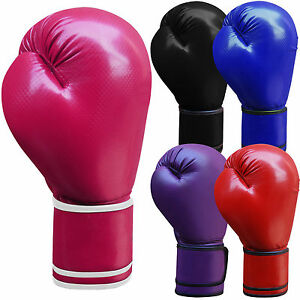 Leather-Boxing-Gloves-Sparring-Punch-Bag-Grappling-Gloves-Junior-amp-Adults