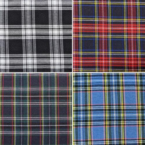 100/% Polyester Tartan Tissu fashion jupe robe Dungarees Pantalon 150 cm large