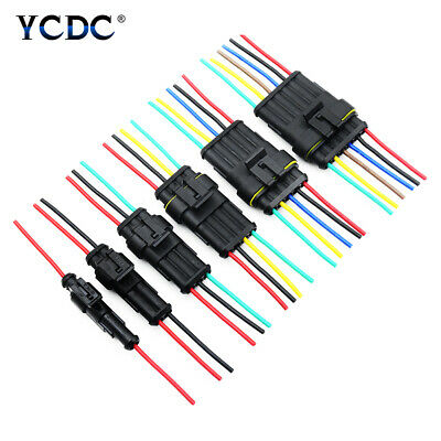 1-6 Pin Car Waterproof Electrical Car Connectors 18 AWG with Cable 2.4mm