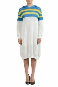 Dsquared2-Multi-Color-Women-039-s-Hooded-Knitted-Sweater-Dress-US-XS-IT-38