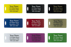 Two-Custom-Engraved-Plastic-Luggage-Tags-Nine-Color-Options-Personalized