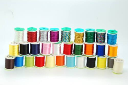 Materials Fly Fishing Fly Tying Thread Different Colours Floss Tinsel