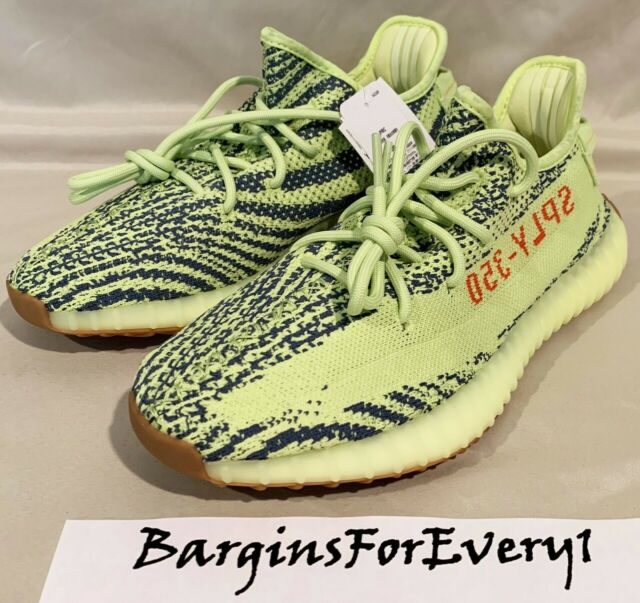 914bc81c4cdab New Men s Adidas Yeezy Boost 350 V2 - Size 5 - Semi Frozen Yellow - B37572