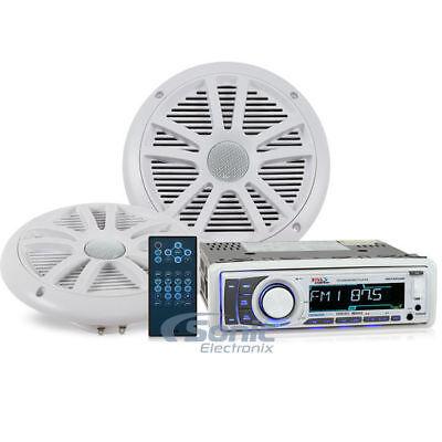 In-Dash Marin Boss Audio MCKGB450B.6 Marine Package Audio Streaming Bluetooth