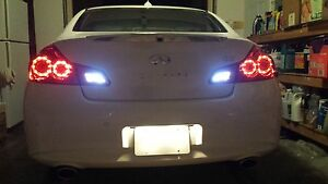 White-LED-Reverse-Lights-Back-Up-For-Infiniti-G35-2003-2008-2004-2005-2006-2007