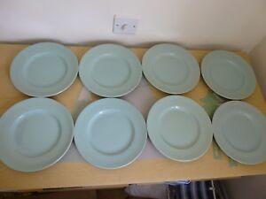 8-Woods-Ware-Beryl-9-inch-Salad-Luncheon-Plates-Vintage