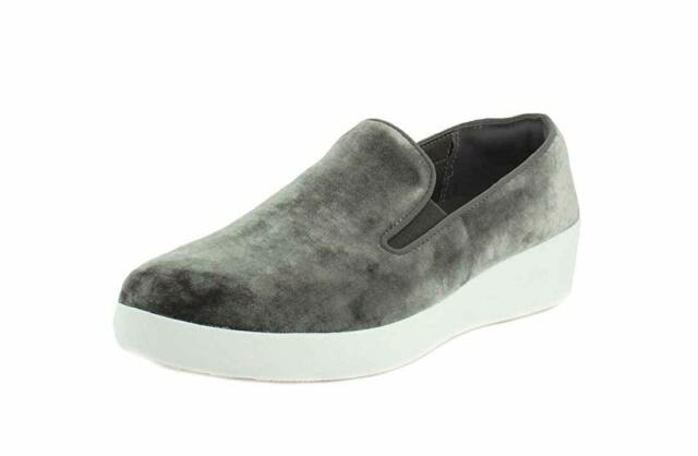 99d64ec06 FitFlop Womens Superskate in Velvet Loafer Shoes Silver US 7 for ...