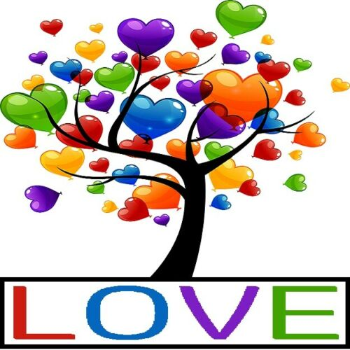 30 Custom Love Heart Tree Personalized Address Labels